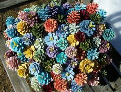 "Painted Pine Cone ""Flowers"".  :) www.etsy.com/shop/NaturesCraftSupply"