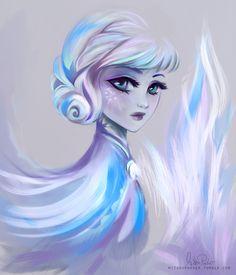 Queen Elsa art