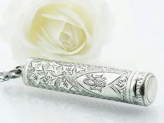 1902 Sterling Silver Needle Case Edwardian by ClosetGothic on Etsy
