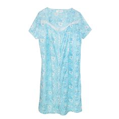 Sag Harbor Women's Button Front Duster Robe, Large, Blue -- Awesome products selected by Anna Churchill