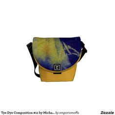 Tye Dye Composition #11 by Michael Moffa Courier Bags