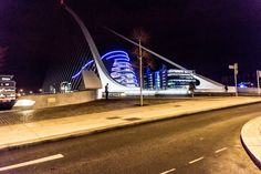 Dublin Docklands At Night - The Samuel Beckett Bridge And The Convention Centre -  #infomatique
