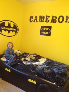 Batman logo with kid's name in it