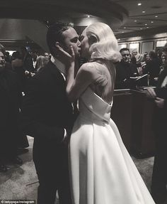 Can't hide their love: Lady Gaga and other stars attending the 88th annual Academy awards on Sunday night were keen to share every moment with their followers as they flocked to Twitter and Instagram
