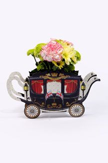 Royal Jubilee British Teapot Carriage Vase.  I think this is too cute!