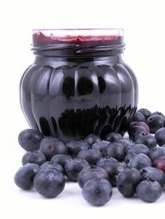 jar of blueberry jam and some fresh berries isolated Jam Favors, Blueberry Jam, Mason Jars, Berries, Homemade, Fresh, Twilight, Smoothie, Kitchen