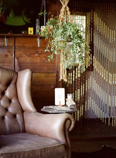 Natural Wooden and Bamboo Door Beads - Choices Junk Gypsies Decor, Beaded Door Curtains, Door Beads, Hippy Room, Wayfair Living Room Chairs, Wrought Iron Patio Chairs, Plant Hanger, Hanging Plant, Doors