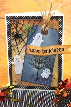 Halloween Card with Memory Box stamps and dies. by patrica
