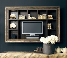 Tv in Cornice ! | First home ☀ | Pinterest | Cornice, Lcd panel ...