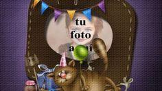 Fiesta De Cumpleaños Divertida Del Gato Marco Foto Happy Birthday Cake Photo, Birthday Frames, Christmas Ornaments, Holiday Decor, Gifts, Amor, Frases, Happy Birthday Text, Happy Birthday Photos
