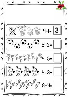Christmas and Winter - Literacy and Math Activities Kindergarten Addition Worksheets, First Grade Math Worksheets, Literacy Worksheets, Preschool Writing, Math Literacy, Kindergarten Math Worksheets, Preschool Learning Activities, Math Subtraction, Math For Kids