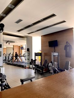 Cardio Room Cardio, Conference Room, Health Fitness, Gym, Club, Living Room, Table, Furniture, Home Decor