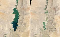 So did the Elephant Butte Reservoir in New Mexico. Here it is in 1994 (left) and again in 2013 (right).