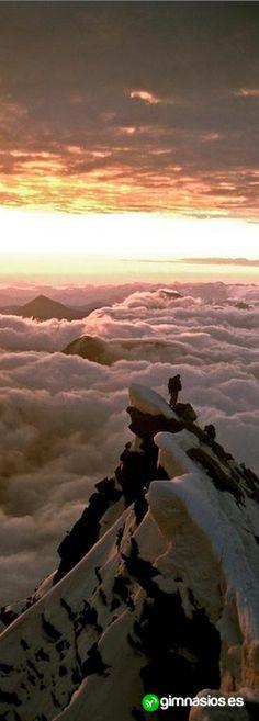 #montaña #vistas #esplendidas #nieve #frio #invierno #sunset #impresionante #awesome #sensaciones