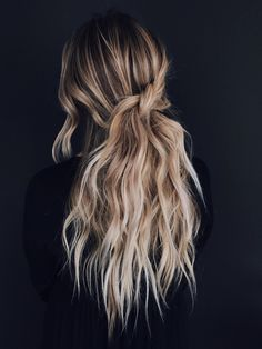 Twisted knot half up half down style