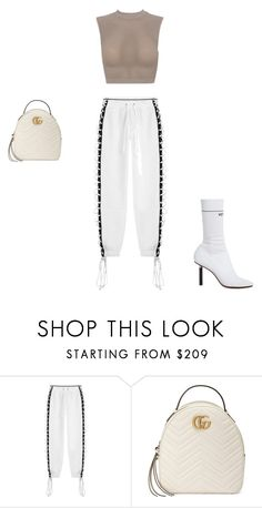 """""""Untitled #261"""" by zeynepkartal on Polyvore featuring Puma, Gucci and Vetements"""