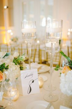 Table decor: http://www.stylemepretty.com/2014/11/12/glamorous-ballroom-wedding-in-miami-beach/ | Photography: Shea Christine - http://www.sheachristine.com/