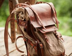 Large leather and canvas rucksac #070 on Behance