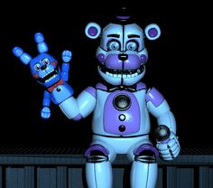 Funtime Freddy ready to be scooped