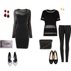 """""""Sheer 2 Ways"""" by vfriedman on Polyvore"""