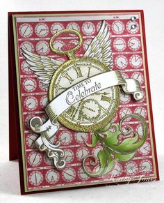 Time Flies Background Stamp and Timely Banners