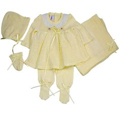 Roses Knitted - Yellow / New Born / No