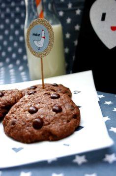 Double Chocolate Cookies  www.babyrockmyday.com