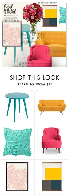 """Colorful Living Room"" by asapholly ❤ liked on Polyvore featuring interior, interiors, interior design, home, home decor, interior decorating, Madison, PBteen, Kate Spade and living room"