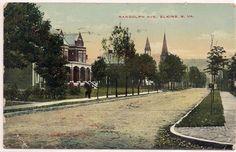 1915 ELKINS WEST VIRGINIA WV RANDOLPH COUNTY POSTCARD
