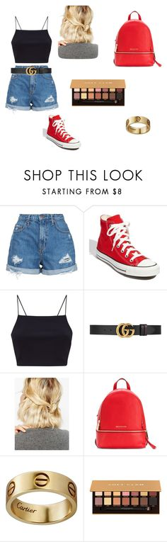 """soft glam"" by ella13-369 ❤ liked on Polyvore featuring Nobody Denim, Converse, Gucci, WithChic, MICHAEL Michael Kors, Cartier and Anastasia Beverly Hills"