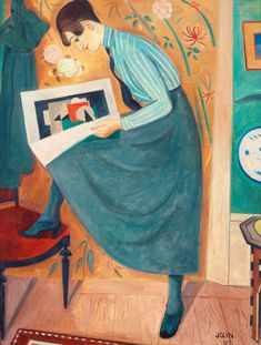 Young Woman Reading Magazine, 1919, by Einar Jolin (Sweden, 1890-1976) - #reading #books