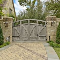beautiful driveway and gate