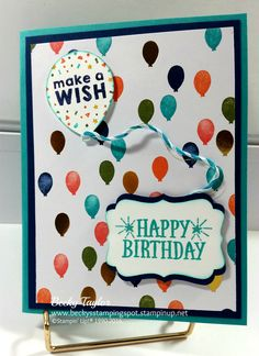 Birthday Bash, Party Wishes, You're so Lovely, stampinup