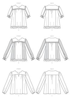 McCall's Misses' Tops Sewing Pattern - Size or Mccalls Sewing Patterns, Vogue Patterns, Dress Patterns, Sewing Clothes Women, Clothes For Women, Women's Clothes, Kwik Sew, Extra Fabric, Bias Tape