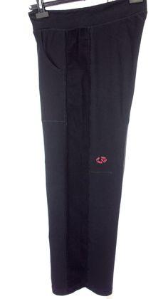 LULULEMON Mens Pants Size L Large Black Ribbed Sides Cotton Stretch Casual Yoga #Lululemon #Pants