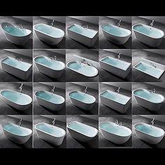 Design Badewanne Freistehende Wanne Standbadewanne 180 x 80 cm Vicenza Neu
