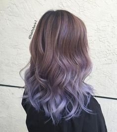 Ombre Hair Looks That Diversify Common Brown And Blonde Ombre Hair 2 Tone Hair Color, Hair Dye Colors, Dark Ombre Hair, Ombre Hair Color, Ombre Nail, Ombre Hair Brunette, Blonde Ombre, Lavender Hair, Lilac Hair