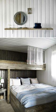 loft-like bed - @Jess Liu Kuehn-Hajder