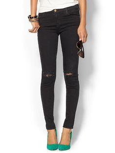 Mid Rise Super Skinny Denim Jean Product Image