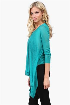 Hipster Sheer Sweater - Teal