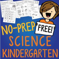 NO-PREP Kindergarten SCIENCE printables. So FUN and Engaging! The kids love this!