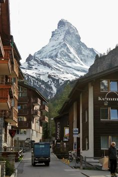 Before our trip to Zermatt, high up in the Swiss Alps, none of us could have ever imagined the true scale of the mountains we would see. Zermatt, Switzerland Bern, Places In Switzerland, Places To Travel, Places To See, Beautiful World, Beautiful Places, City Landscape, Great View