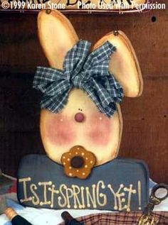 000092 (6) Is It Spring Yet Bunny-Spring, bunny, Karen Stone, Pretty Primitives, wood kits, wood blanks, wood crafts, patterns, primitives, woodshop, woodshop in wv, decorative painting, tole painting, home decore
