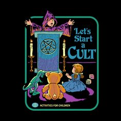 "Let's start a cult! First order of business: cult leader says ""buy this shirt right now!"" Shirts are unisex, women may want to order a size down. Printed on tri-blend shirts for an ultra-soft feel. Designed by Steven Rhodes. Bizarre Kunst, Bizarre Art, Arte Horror, Horror Art, Aesthetic Art, Aesthetic Pictures, Just Kids, Satanic Art, Bedtime Stories"