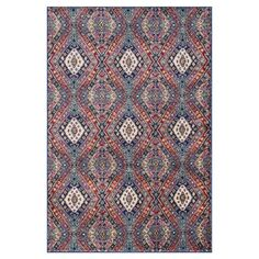 Anchor your living room seating group or define space in the den with this loomed rug, featuring an exotic diamond motif for eye-catching style....