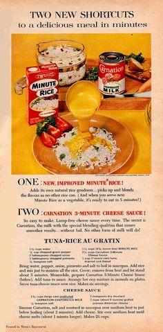Minute Rice Tuna Rice Au Gratin from 1958