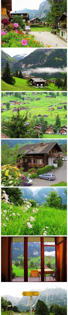 Idyllic small town - Switzerland Glind Silva Stewart] Grindelwald is located in the northern foothills at the foot of the Eiger, for beta peak has two glaciers along the steep terrain.
