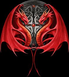"""Two dragons, one black, on the left,  one an outline in black, on the right, covered most of his back."" ---Danny's tattoo"