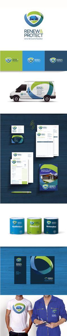 Renew & Protect Brand Identity Designed: Martin Joyce. thoughtfields Creative Communications, Graphic Design Company, Logo Creation, Direct Mail, Publication Design, Brand Identity Design, Corporate Identity, Book Publishing, Branding