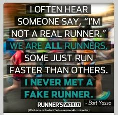 "Being a ""real runner"""